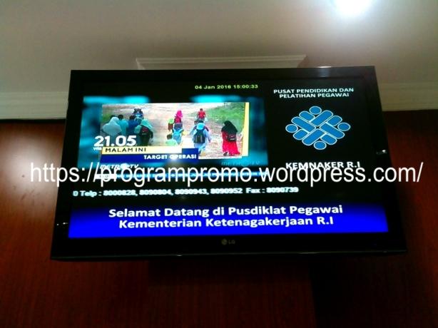 TVP on Pusdiklat Kemnaker 1 Jakarta 4 Jan 2016